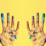 Mr Dimples paint hands
