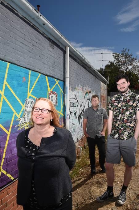 Mr Dimples New Bendigo gallery opens street art wall