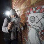 Mr Dimples Illegal graffiti surges in Bendigo